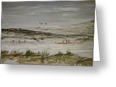 Sand Dunes Of The Pacific Greeting Card
