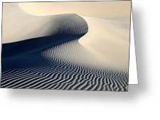 Sand Dunes Patterns In Death Valley Greeting Card