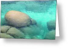 Sand Harbor Ripples Greeting Card