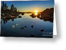 Sand Harbor Sunset Greeting Card
