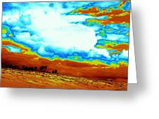 Sand In The Sky Greeting Card