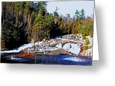 Sand River Falls Greeting Card