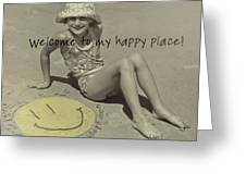 Sand Smile Quote Greeting Card