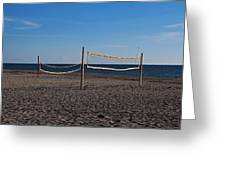 Sand Volleyball Greeting Card