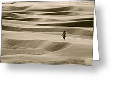 Sand Walker Greeting Card