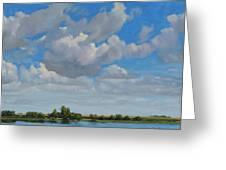 Sandbar Slough July Skies Greeting Card