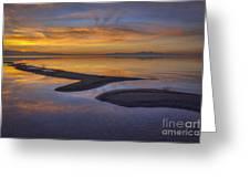 Sandbar Sunset Greeting Card