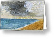 Sandgate Beach. Kent  Greeting Card