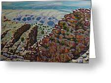 Looking Down From The Sandia Mountains Greeting Card