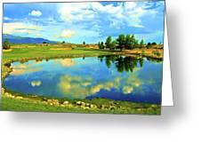 Sandia Golf Club Hole #14 Greeting Card