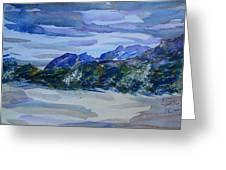 Sandia Mountains Greeting Card