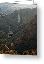 Sandia Peak Cable Car Greeting Card