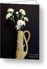 Sandi's Leaf Vase Greeting Card