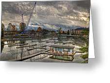 Sandpoint Marina 2 Greeting Card