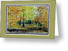 Sandringham Woods. Uk. Greeting Card