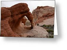 Sandstone Arches Valley Of Fire Greeting Card