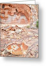 Sandstone Colors In Wash 3 - Valley Of Fire Greeting Card