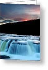 Sandstone Falls At Sunset In West Virginia Greeting Card