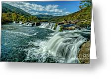 Sandstone Falls New River  Greeting Card
