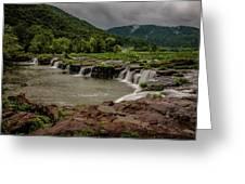 Sandstone Falls Greeting Card