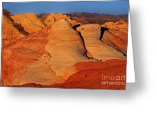 Sandstone Formations In Valley Of Fire State Park Nevada Greeting Card by Dave Welling