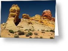 Sandstone Fortress Valley Of Fire Greeting Card