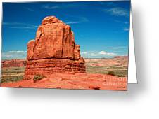 Sandstone Monolith, Courthouse Towers, Arches National Park Greeting Card