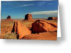 Sandstone Near And Far Greeting Card