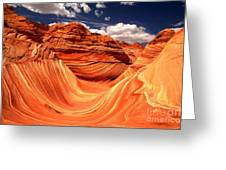 Sandstone Waves And Clouds Greeting Card