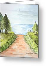 Sandy Beach Awaits Greeting Card