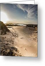 Sandy Beach Haven Greeting Card