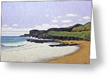 Sandy Beach Oahu Greeting Card