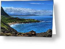 Sandy Beach Park-oahu Greeting Card