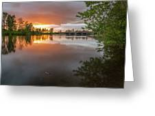 Sandy River Sunset Greeting Card
