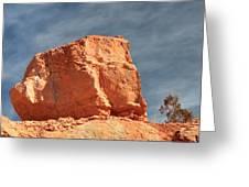 Sandy Rock In Morning Light Greeting Card
