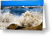 Sandy Surf Splash Greeting Card