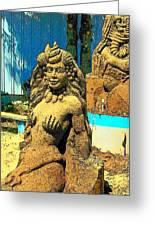 Sandy The Mermaid Greeting Card