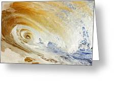 Sandy Wave Crashing Greeting Card