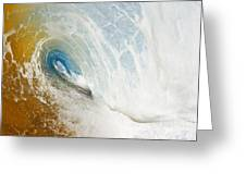 Sandy Wave Tube Greeting Card