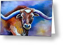 Sandy's Longhorn Bull Greeting Card