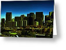 Sanfrancisco Sky Line Greeting Card