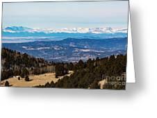 Sangre De Cristo Mountain Valley Greeting Card