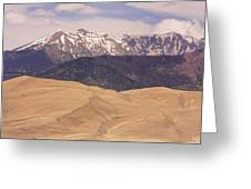 Sangre De Cristo Mountains And The Great Sand Dunes Greeting Card