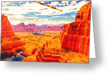 Sangry Valley Greeting Card