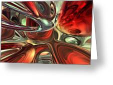 Sanguine Abstract Greeting Card