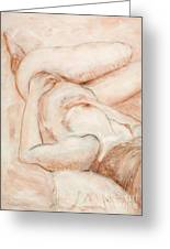 Sanguine Nude Greeting Card