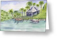 Sanibel Castaways View Over Bay Greeting Card