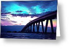 Sanibel Causeway Bridge Greeting Card
