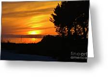 Sanibel Island Sunset Two Greeting Card