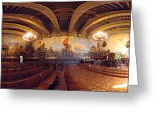 Santa Barbara Court House Mural Room Photograph Greeting Card by Brian Lockett